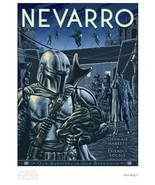 Star Wars The Mandalorian Nevarro Market Lithograph Poster Print Art 13x... - $199.90