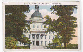 Kentucky Institute for the Blind Louisville KY 1920c postcard - $6.44