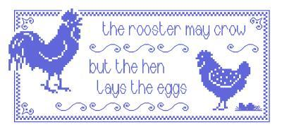 Primary image for Rooster and Hen cross stitch chart Brodeuse Bressane
