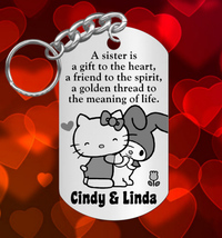 Hello Kitty SISTERS Keychain Gift with NAMES, Personalized 4 FREE! gift ... - $9.95