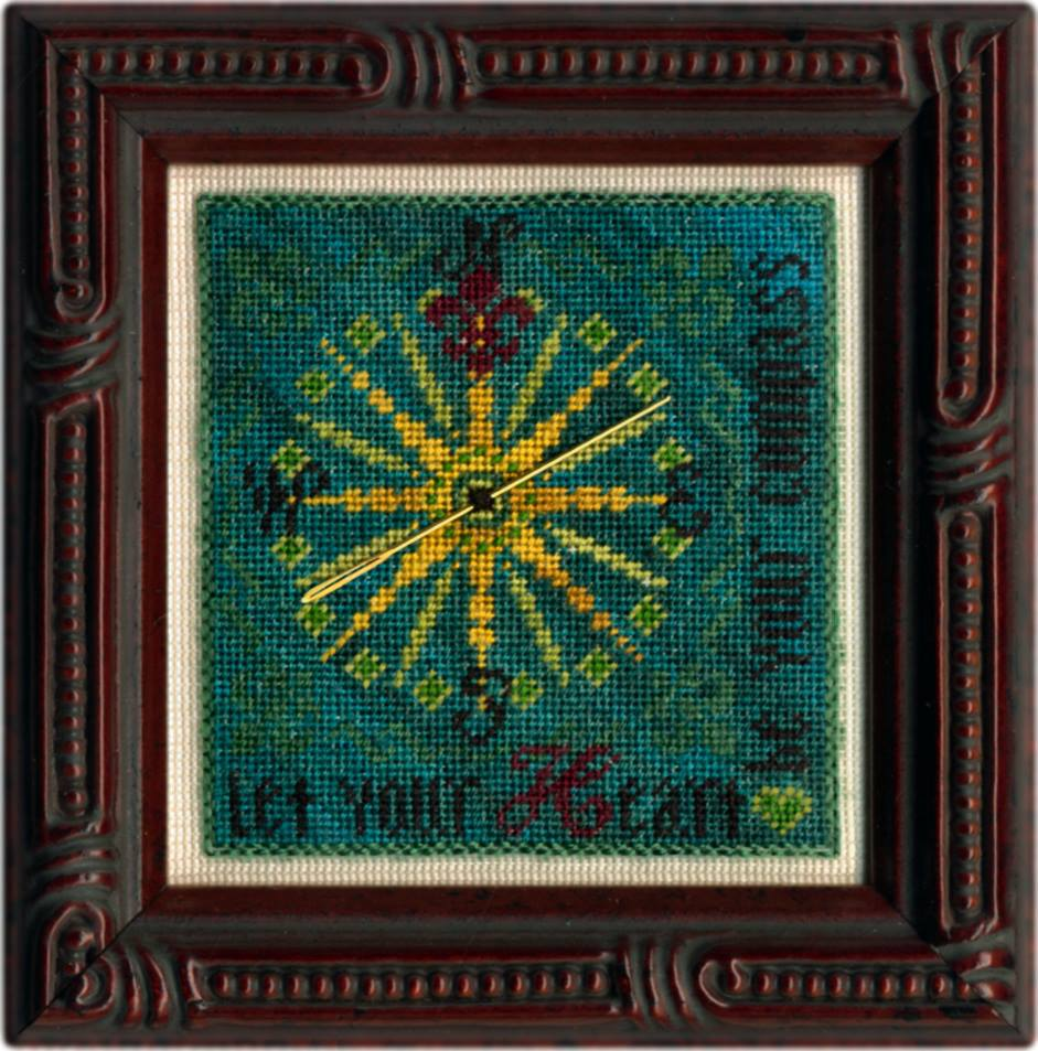 Primary image for Heart & Compass with silk gauze cross stitch chart Erica Michaels