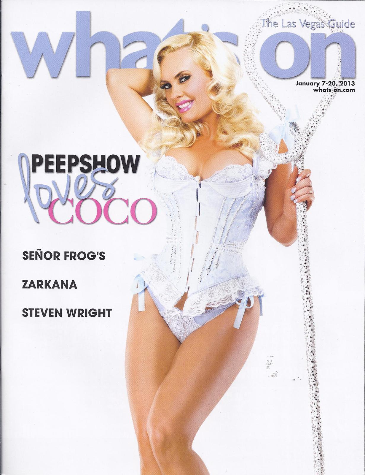 Primary image for PEEPSHOW HOLLY MADISON LOVES COCO  @ WHATS ON Las Vegas Mag 2013