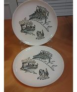 "Stetson Marcrest, American Heritage  (2) Dinner Plates 9.5"" dated 1950'... - $9.95"