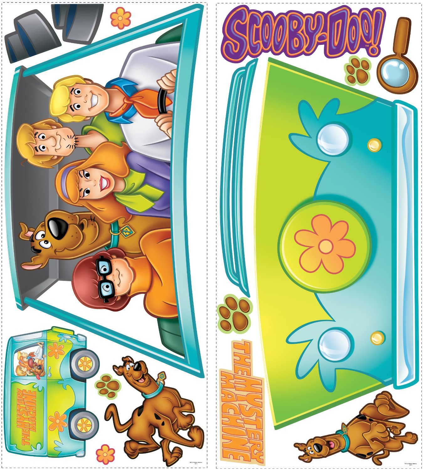 Scooby Doo Mystery Machine Giant Wall Decal Set Shaggy
