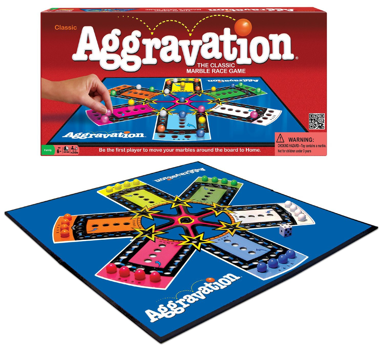 Primary image for AGGRAVATION BOARD GAME CLASSIC MARBLE RACE FAMILY BOARDGAME PARKER BROTHERS