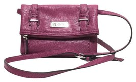 NEW Kenneth Cole Reaction Junior Mini 2-in-1 Shoulder To Clutch Berry Pink Bag - $42.08