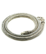 Thick Round Byzantine Chain-Necklace -  Sterling Silver  - $320.00