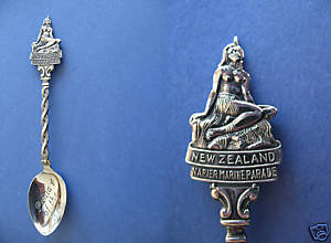 Primary image for NEW ZEALAND Souvenir Collector Spoon Collectible PANIA of the REEF NUDE Statue