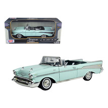 1957 Chevrolet Bel Air Convertible Green 1/18 Diecast Model Car by Motormax 7317 - $41.99
