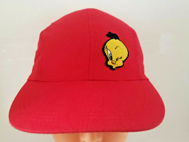 Vtg Tweety Bird stretch hat cap rare 90s Looney Tunes warner bros cartoo... - $19.99