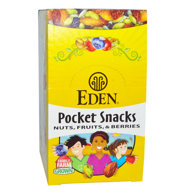 Primary image for Keto snacks: Eden Foods, 1 oz Pocket Snacks, Wild Berry Mix, 12 ct (9 net carbs)