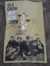 RARE  OLD CROW MEDICINE SHOW   SIGNED POSTER  3/10  COOL PIECE  MUSIC  - $64.99