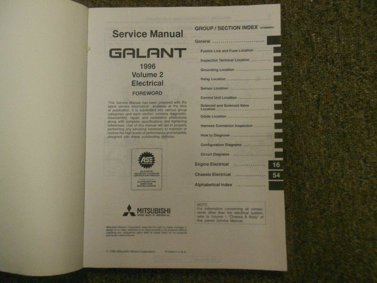 1997 MITSUBISHI Galant Service Repair Shop Manual FACTORY OEM BOOK 97 VOL 2 DEAL