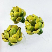 Artificial Food Artichokes Decorative Food Accessories Plastic 3 pcs - $28.47