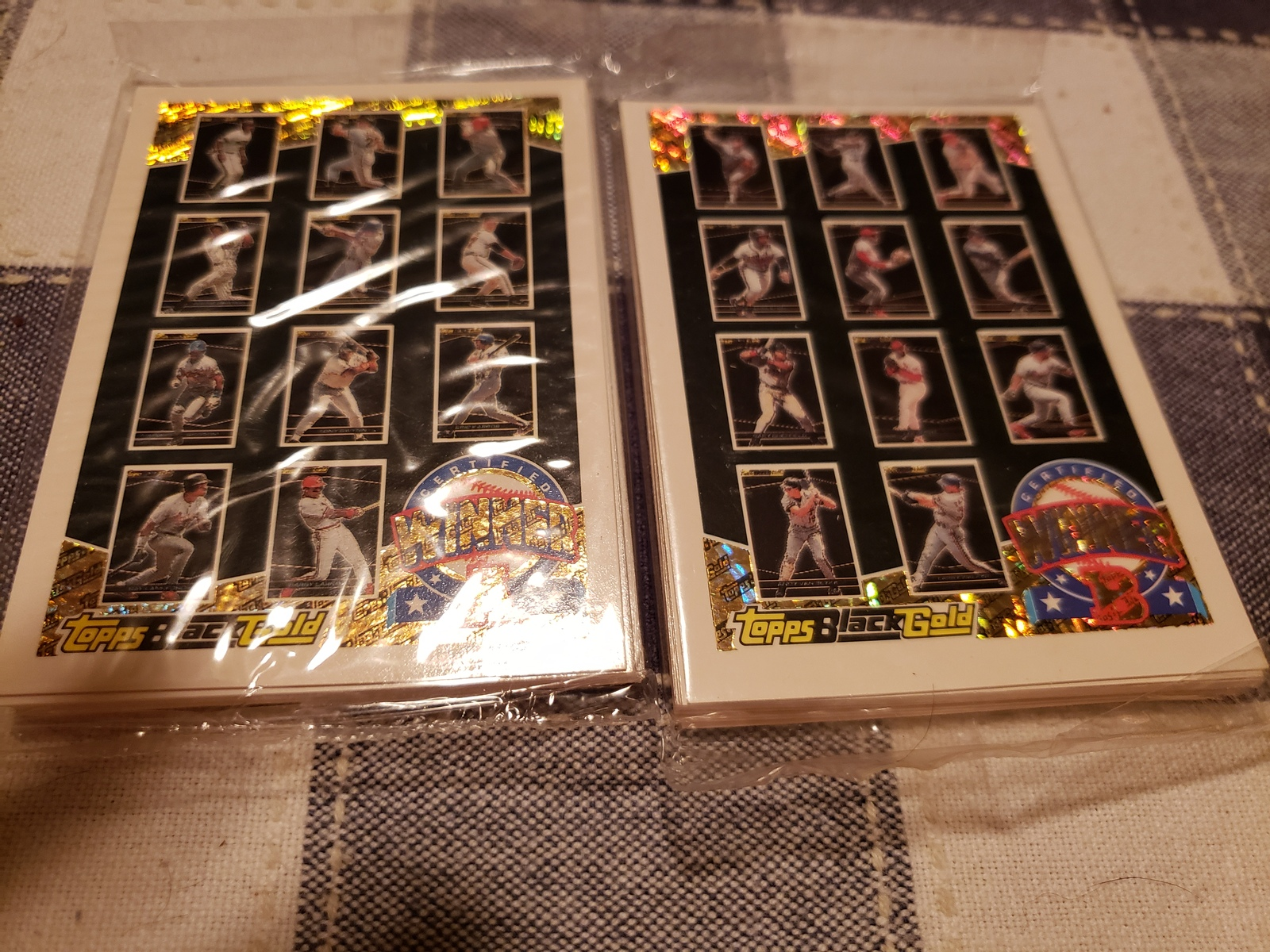 Primary image for 1993 Topps baseball black and gold a and b unopened
