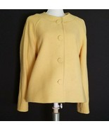Pendleton Scoop Jewel-neck Buttery Yellow Jacket Size XL Petite 100% Mer... - $30.99