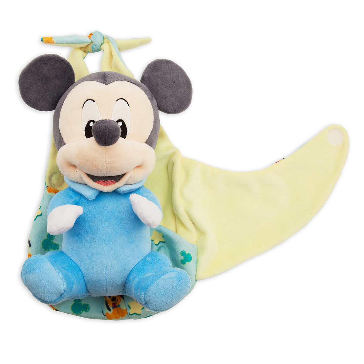 Disney Parks Baby Mickey in a Blanket Pouch Plush New with Tags