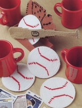 Baseball Coaster Set Plastic Canvas Pattern/Instructions Leaflet NEW - $2.94