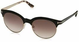 Tom Ford Angela TF438 01F Shiny Black Rose Gold Women's Round Sunglasses - $148.49
