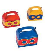 tkpartysupplies4u 6 Superhero Party Treat Boxes Gift Basket Boys Girls F... - $12.18