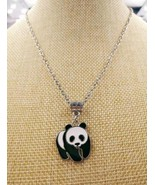 1pcs Hot New Alloy Enamel Drop Glaze Cute panda Pendant panda Necklace W... - $9.69