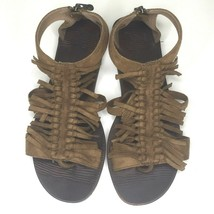 Blowfish Malibu Women's Gladiator Sandals US size 8.5 Ankle Strap Fringe... - $29.69