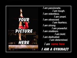 Inspirational Personalized Custom Gymnastics Poster, Motivation Wall Art... - $29.99+