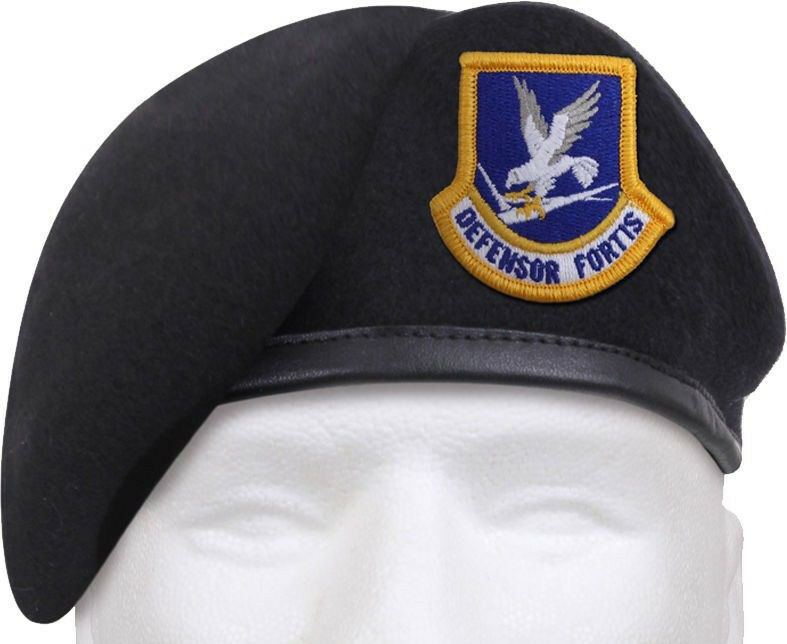 Primary image for Midnight Navy Blue Defensor Fortis Beret US Air Force Flash Inspection Ready