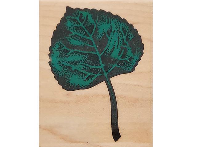 Rubber Stampede Aspen Leaf Wood Mounted Rubber Stamp #271D