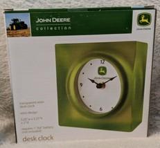 John Deere Collection LP25131 Transparent Resin Desk Clock Retro Design image 1