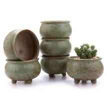 Tripod Succulent Cactus Plant Pots Flower Container Office Spa Pot 6pcs ... - ₹2,219.05 INR