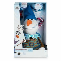 "Disney Store Olaf's Frozen Adventure Plush Talking Olaf Small 10"" Stuffe... - $29.09"