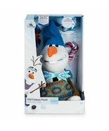 "Disney Store Olaf's Frozen Adventure Plush Talking Olaf Small 10"" Stuffe... - $29.09"