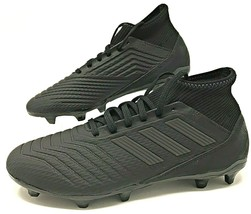 Adidas Predator 18.3 FG Mens Soccer Cleats Black Reflective CP9303 New - $58.00