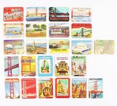 SET OF 6 FRIDGE MAGNETS RETRO SAN FRANCISCO ICONS SOUVENIR USA MAGNET - $6.91