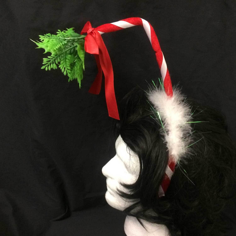 Adult Funny HOLLY MISTLETOE HEADBAND Ugly Christmas Sweater Santa Costume-CHOOSE