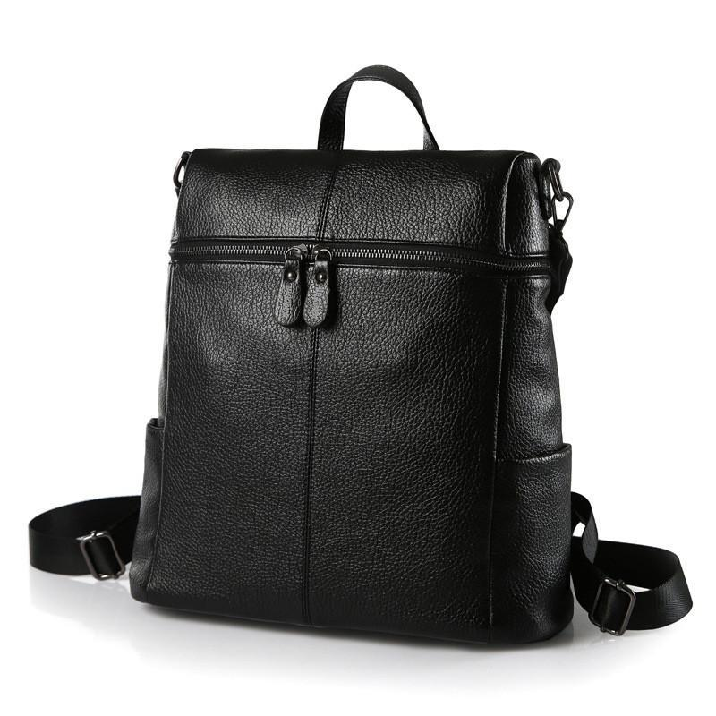 Women Vintage Leather Backpack High Quality School Bag Fashionista Lady Backpack