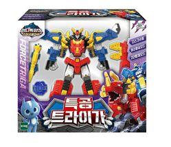 Miniforce Force Triga Super Dinosaur Power Action Figure Transforming Toy Robot image 5