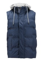 Men's Puffer Packable Quilted Lightweight Warm Zipper Vest With Removable Hood image 2