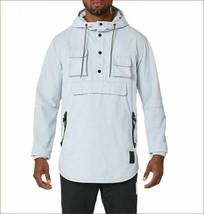 new Asics Tiger men jacket pullover hoodie A16038 sky blue white sz 2XL ... - $49.49