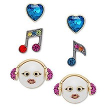 Betsey Johnson xox Trolls Stud Earrings Set, Multicolor (Set of 3) - $20.86