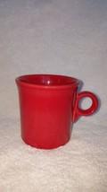 Fiesta Ware CINNABAR Red Tom Jerry Coffee Cup Mug HCL Laughlin Ring Hand... - $9.99