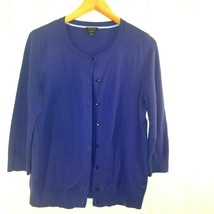 Talbots Womens Cardigan Sweater Large.  75% Pima Cotton 22% Nylon and 3%... - $9.79
