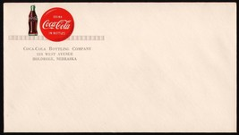 Vintage envelope COCA COLA button sign and bottle pics Holdrege Nebraska... - $6.29