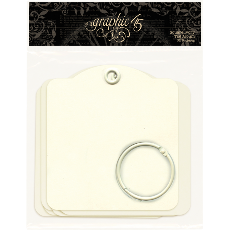 SquareTag Album.  Graphic 45. Ivory