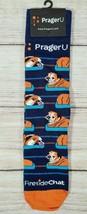 Freaker USA Men's Women's Bulldog Socks One Size Blue Brown Fireside Cha... - $17.45