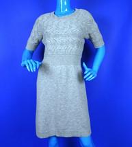 Ann Taylor Loft Cable Sweater Knit Dress L 12 14 Wool Rabbit Hair Heathe... - $34.64