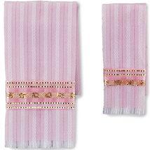Pink Damask Bath Towel Set 1.770/5 Reutter Dollhouse Miniature - $12.30