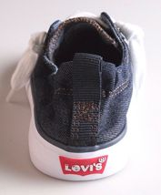 New Levi's Denim Blue Girls Stan G Canvas Sneakers Gym Shoes New in Box 1091100 image 6