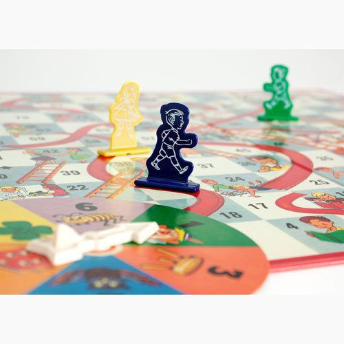 Classic Chutes And Ladders Board Game In Deluxe Nostalgia